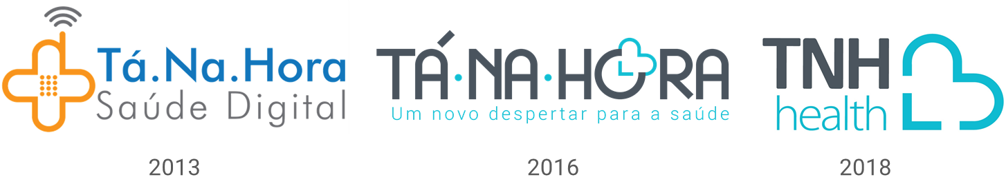 Transformação do logotipo da TNH Health ao longo do tempo