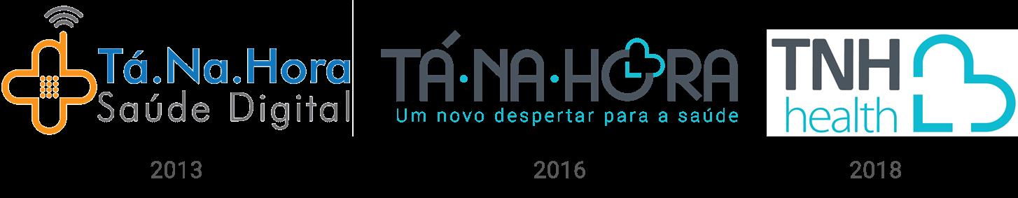Transformação do logotipo da TNH Health ao longo do tempo
