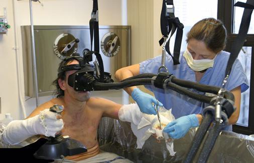 Realidade virtual desvia a atenção do paciente da dor